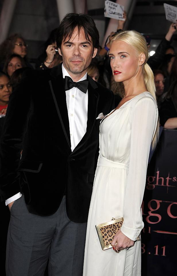 """<a href=""""http://movies.yahoo.com/movie/contributor/1800022672"""">Billy Burke</a> and guest at the Los Angeles premiere of <a href=""""http://movies.yahoo.com/movie/1810158314/info"""">The Twilight Saga: Breaking Dawn - Part 1</a> on November 14, 2011."""