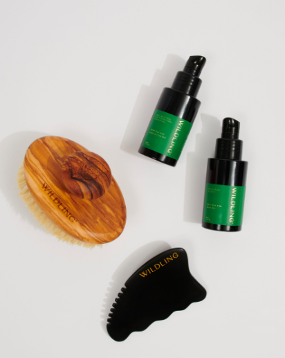 """<h3>Wildling Aura Collection</h3> <br>""""Gua sha is a traditional Chinese medicine technique with a rich history. Much more recently, gua sha-inspired treatments have been popping up in the beauty world. I've used (and enjoyed) <a href=""""https://www.refinery29.com/en-us/shop/product/wildling-facial-gua-sha-collection-9767910"""" rel=""""nofollow noopener"""" target=""""_blank"""" data-ylk=""""slk:gua sha facial products"""" class=""""link rapid-noclick-resp"""">gua sha facial products</a> before, but I've never used them on my body — and I was excited to try Wildling's new body-focused product line. <br><br> """"While I think of the facial treatments as a form of self-care, the body kit feels way more functional than feel-good. It comes with a """"sweeper"""" (a dry brush), that I use before I shower. It almost hurts, and leaves my skin super-exfoliated and soft. Post-shower I go to work with the activator, oil, and stone. As a runner who often slacks on stretching, I feel like the massage helps break up tight spots in my leg muscles to keep me from getting achy. And it makes my skin look great, too."""" — <em>MZ</em><br><br><strong>Wildling</strong> Wildling Aura Collection, $, available at <a href=""""https://go.skimresources.com/?id=30283X879131&url=https%3A%2F%2Fwildling.com%2Fproducts%2Faura-collection"""" rel=""""nofollow noopener"""" target=""""_blank"""" data-ylk=""""slk:Wildling"""" class=""""link rapid-noclick-resp"""">Wildling</a>"""