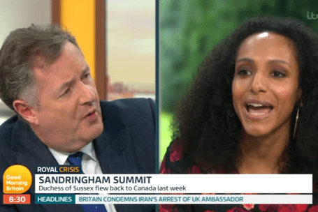 Afua Hirsch locked horns with Piers Morgan in a fiery debate on GMB this week (ITV)