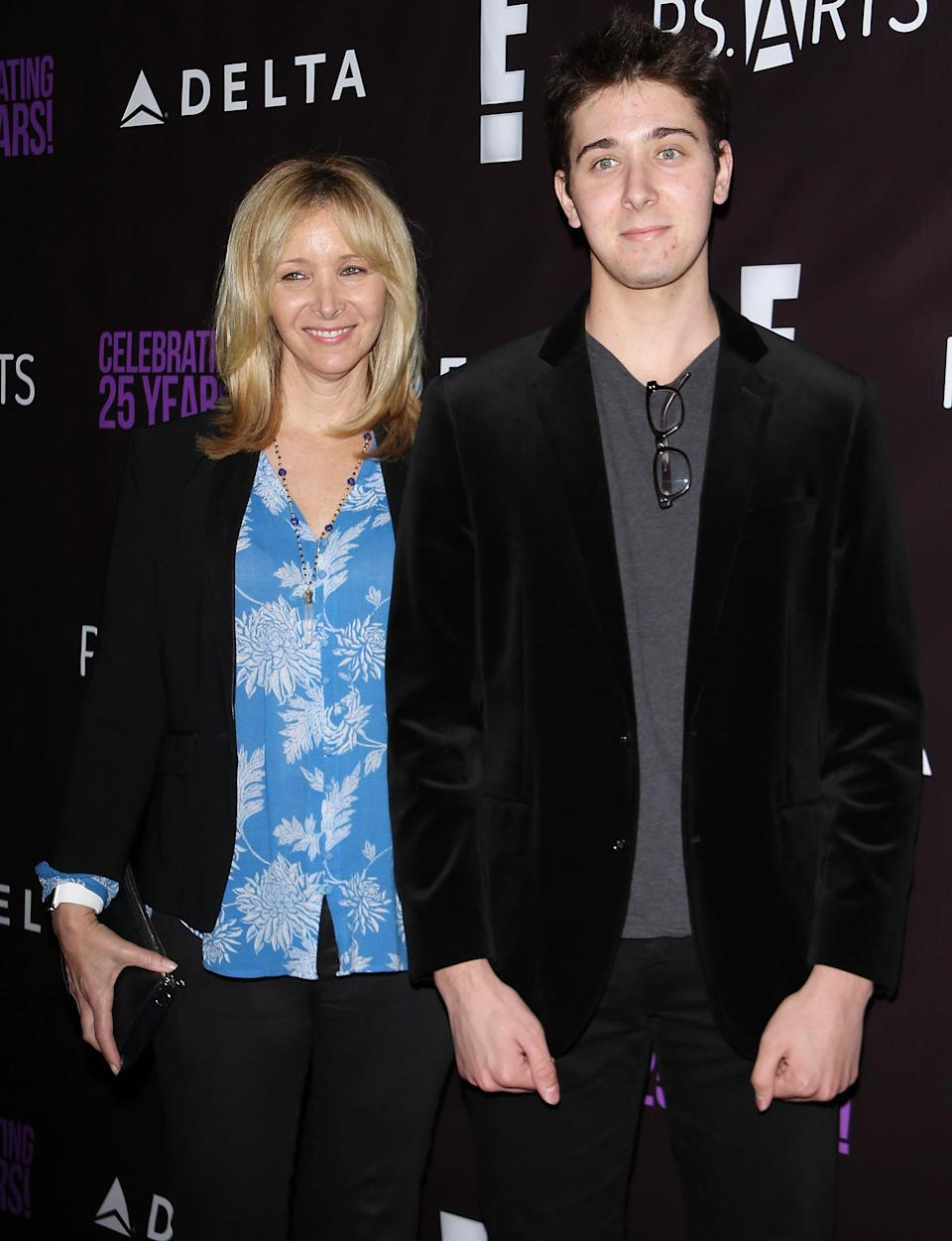Lisa Kudrow (L) and Julian Murray Stern arrive at the P.S. Arts' The Party held at NeueHouse Hollywood on May 20, 2016 in Los Angeles, California. (Photo by Michael Tran/FilmMagic)