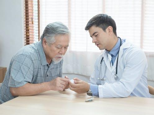 """<span class=""""caption"""">Ageing can affect blood sugar control.</span> <span class=""""attribution""""><a class=""""link rapid-noclick-resp"""" href=""""https://www.shutterstock.com/image-photo/senior-elder-asian-man-asking-young-1672216120"""" rel=""""nofollow noopener"""" target=""""_blank"""" data-ylk=""""slk:November27/ Shutterstock"""">November27/ Shutterstock</a></span>"""