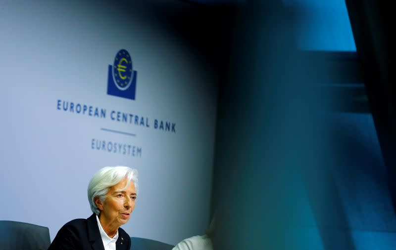 FILE PHOTO: European Central Bank holds a news conference in Frankfurt