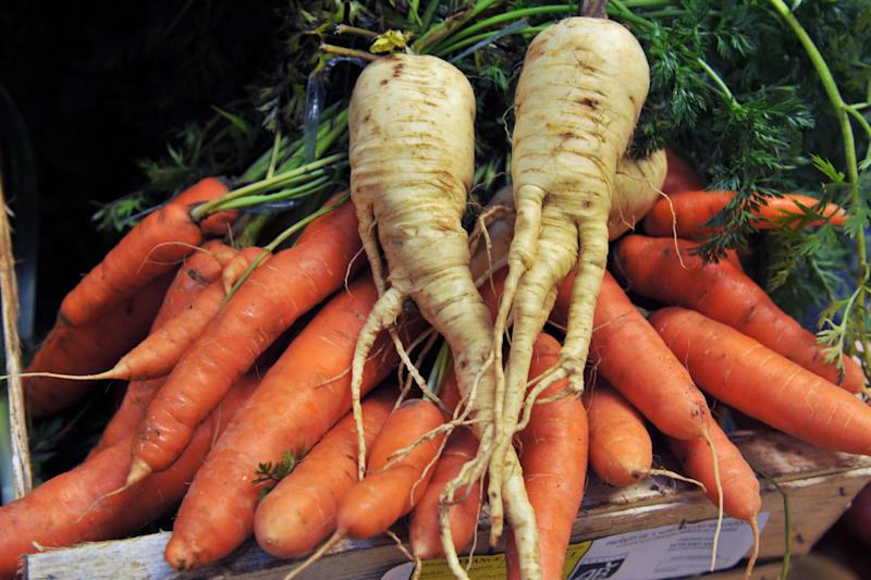 Wonky veg: Supermarkets are being urged to sell misshapen vegetables as standard: AFP/Getty Images