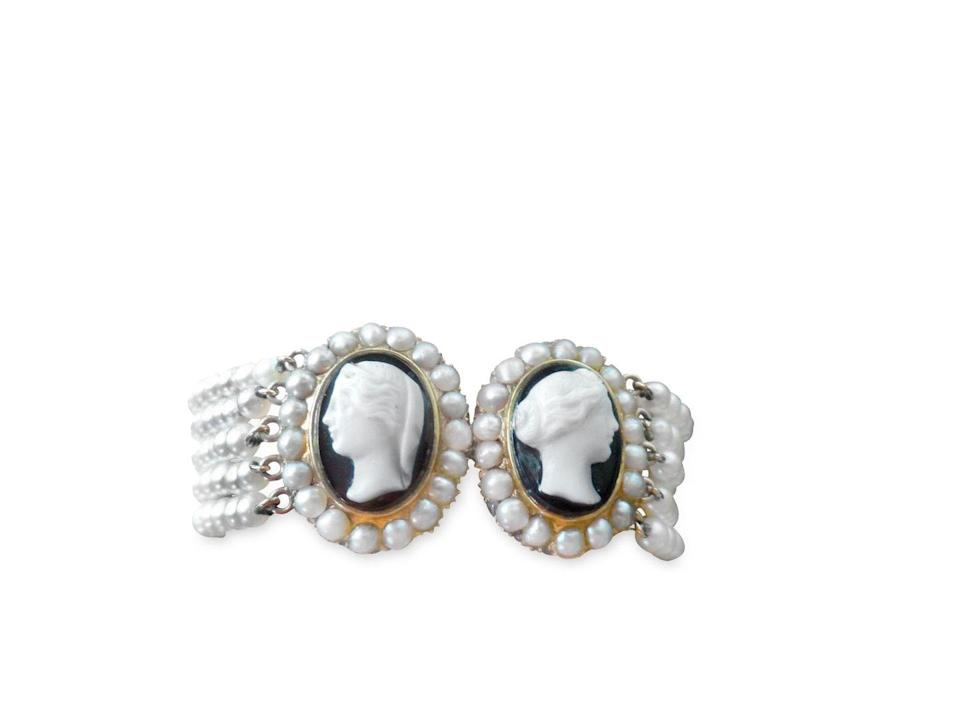 <p>Heritage Auctions' Marsha Dixey consulted with Jill Burgum, who says that the carved cameos are from the late Victorian age when the mourning trend of black clothing and jewelry became popular. They were likely two separate brooches or pendants that were later converted into a bracelet years later. </p><p><strong>What it's worth:</strong> $250</p>