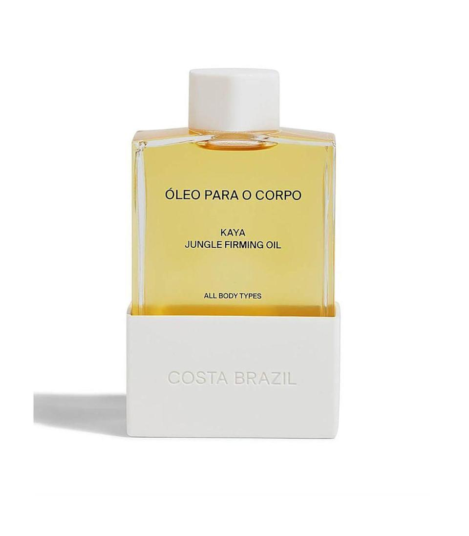 """<p><strong>Costa Brazil</strong></p><p>harpersbazaar.com</p><p><strong>$98.00</strong></p><p><a href=""""https://go.redirectingat.com?id=74968X1596630&url=https%3A%2F%2Fshop.harpersbazaar.com%2Fdesigners%2Fcosta-brazil%2Fkaya-jungle-firming-body-oil-61647.html&sref=https%3A%2F%2Fwww.harpersbazaar.com%2Ffashion%2Ftrends%2Fg37039475%2Fgifts-for-new-moms%2F"""" rel=""""nofollow noopener"""" target=""""_blank"""" data-ylk=""""slk:Shop Now"""" class=""""link rapid-noclick-resp"""">Shop Now</a></p><p>A clean body oil that will remind her to take care of herself and use its application as a mindfulness moment.</p>"""