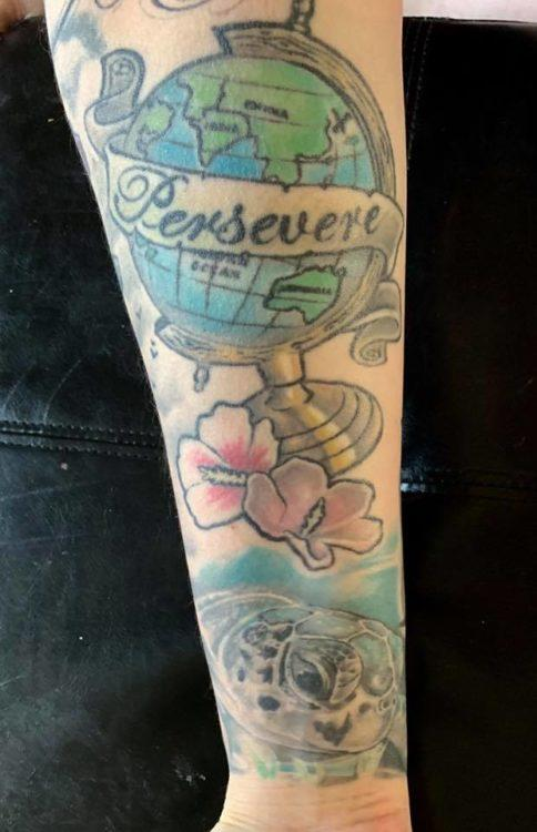 Kristy c.'s persevere tattoo