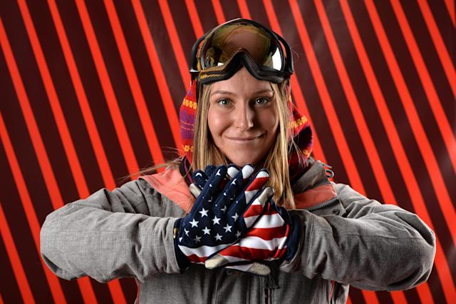 PARK CITY, UT - OCTOBER 02: Snowboarder Jamie Anderson poses for a portrait during the USOC Media Summit ahead of the Sochi 2014 Winter Olympics on October 2, 2013 in Park City, Utah. (Photo by Harry How/Getty Images)