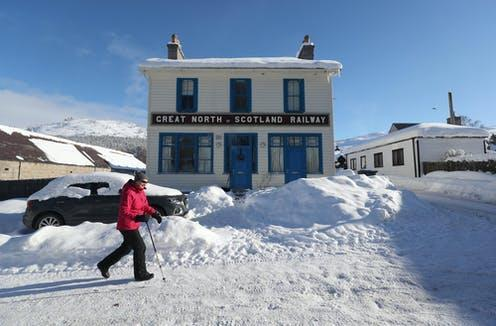 """<span class=""""caption"""">Braemar, Aberdeenshire, which recorded the UK's lowest temperature since 1995.</span> <span class=""""attribution""""><span class=""""source"""">Jane Barlow/PA</span></span>"""