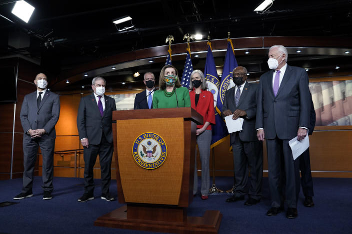 Nancy Pelosi, House Democrats Hold Press Conference On American Rescue Plan Act