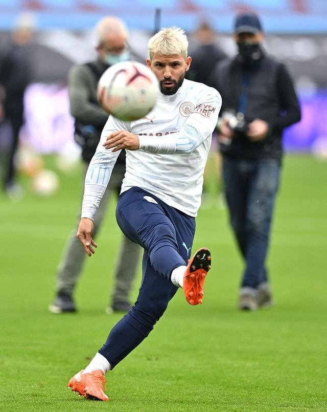 Sergio Aguero is nearing a return from injury