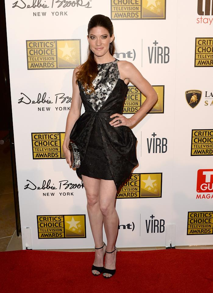 LOS ANGELES, CA - JUNE 10: Actress Jennifer Carpenter arrives at Broadcast Television Journalists Association's third annual Critics' Choice Television Awards at The Beverly Hilton Hotel on June 10, 2013 in Beverly Hills, California. (Photo by Jason Merritt/Getty Images)