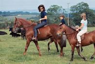 <p>The Kennedys take a horse-back ride while visiting Ireland during a summer holiday. </p>