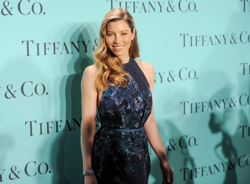Actress Jessica Biel attends the Tiffany & Co. Blue Book Ball at Rockefeller Center on Thursday April 18, 2013 in New York. (Photo by Evan Agostini/Invision/AP)