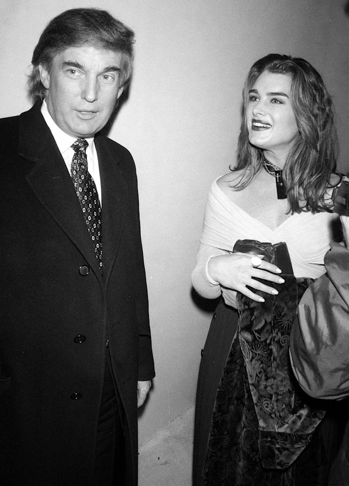 "<p><b>""I was on location doing a movie and he called me right after he gotten a divorce. And he said, 'I really think we should date because you're America's sweetheart and I'm America's richest man and the people would love it.""</b>  — Brooke Shields, <a rel=""nofollow"">recounting Donald Trump's pickup line</a>, on <i>Watch What Happens Live</i></p>"