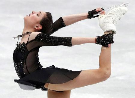 FILE PHOTO: Evgenia Medvedeva of Russia in action. REUTERS/Kim Kyung-Hoon