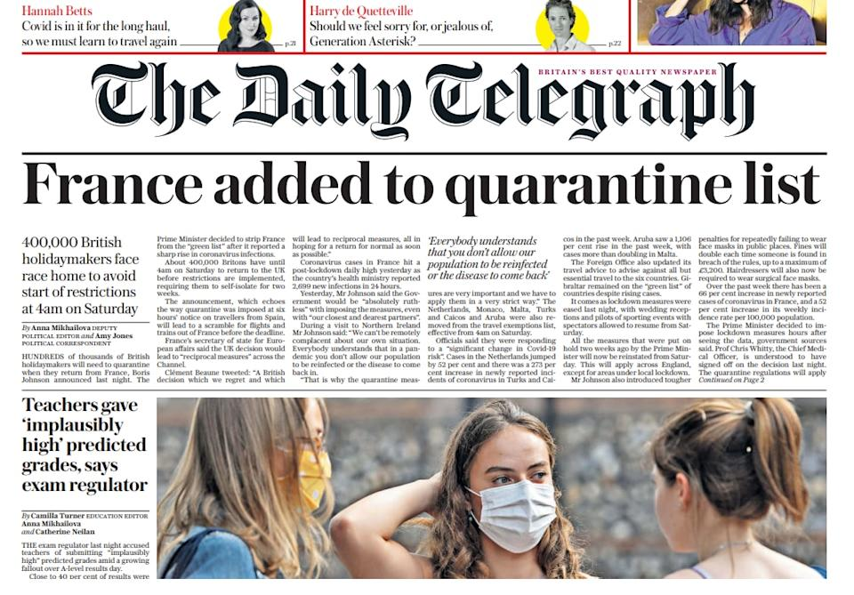 Today's Daily Telegraph