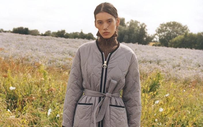 Quilted jacket, £229, Barbour x Alexa Chung