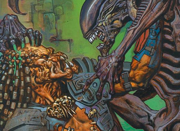 Aliens vs. Predator comic.
