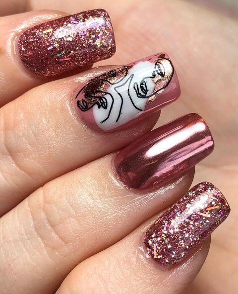 """<p>Combining chrome and glitter, this manicure by <a href=""""https://www.instagram.com/nails_bymollken/"""" rel=""""nofollow noopener"""" target=""""_blank"""" data-ylk=""""slk:Mollie K"""" class=""""link rapid-noclick-resp"""">Mollie K</a> has everything we could ever want to need.</p><p><a href=""""https://www.instagram.com/p/B7O1OmJAceA/"""" rel=""""nofollow noopener"""" target=""""_blank"""" data-ylk=""""slk:See the original post on Instagram"""" class=""""link rapid-noclick-resp"""">See the original post on Instagram</a></p>"""