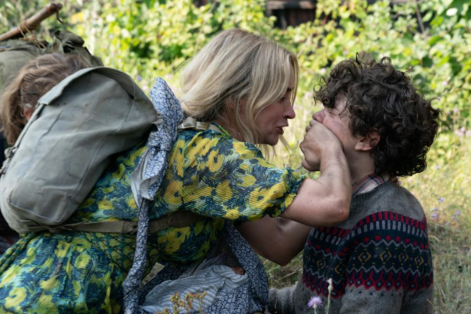 Evelyn (Emily Blunt) and Marcus (Noah Jupe) brave the unknown in A Quiet Place Part II. (PHOTO: United International Pictures)