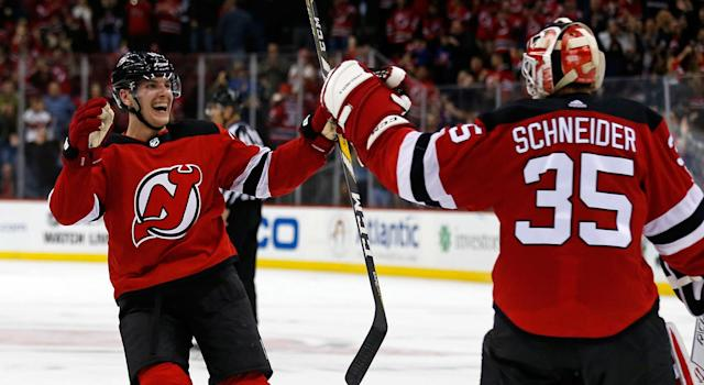 The New Jerseys Devils are off to an incredible start – but what's driving their success? (Photo by Adam Hunger/Getty Images)