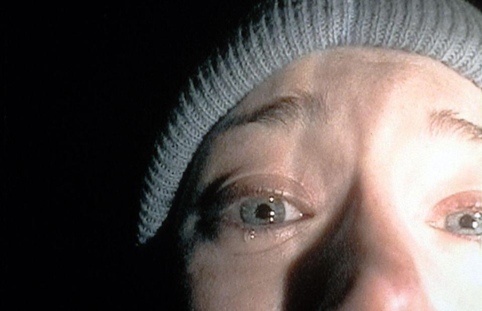 """<p>A masterpiece of """"found footage,"""" this cult favorite follows a group of film students who get lost in the woods while investigating the local """"Blair Witch."""" It might prevent you from ever taking a walk in the woods again. </p><p><a class=""""link rapid-noclick-resp"""" href=""""https://www.amazon.com/gp/video/detail/B000KDZSA4/ref=atv_dl_rdr?tag=syn-yahoo-20&ascsubtag=%5Bartid%7C10055.g.29579568%5Bsrc%7Cyahoo-us"""" rel=""""nofollow noopener"""" target=""""_blank"""" data-ylk=""""slk:WATCH NOW"""">WATCH NOW</a></p>"""