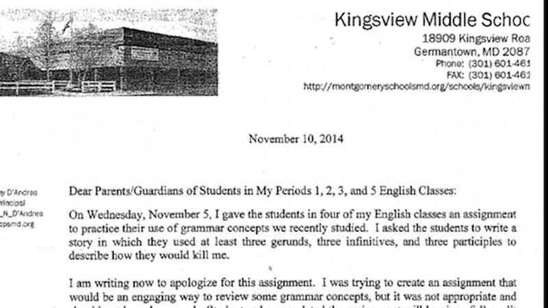 Teacher asks students to 'kill her' in story