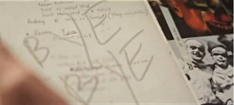 Ledger's Joker diary as seen in the documentary Too Young To Die