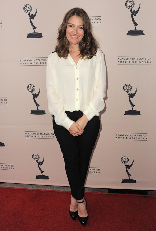 "Kelly Macdonald arrives at The Academy of Television Arts & Sciences Presents An Evening With ""<a href=""http://tv.yahoo.com/boardwalk-empire/show/41428"">Boardwalk Empire</a>"" event at Leonard H. Goldenson Theatre on April 26, 2012 in North Hollywood, California."