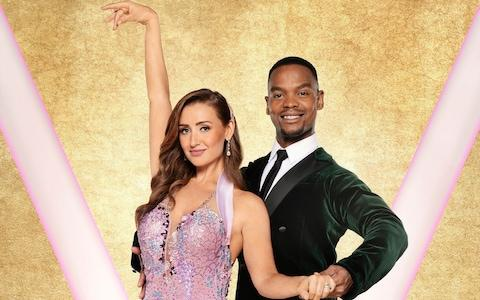 Catherine Tyldesley with her dance partner Johannes Radebe