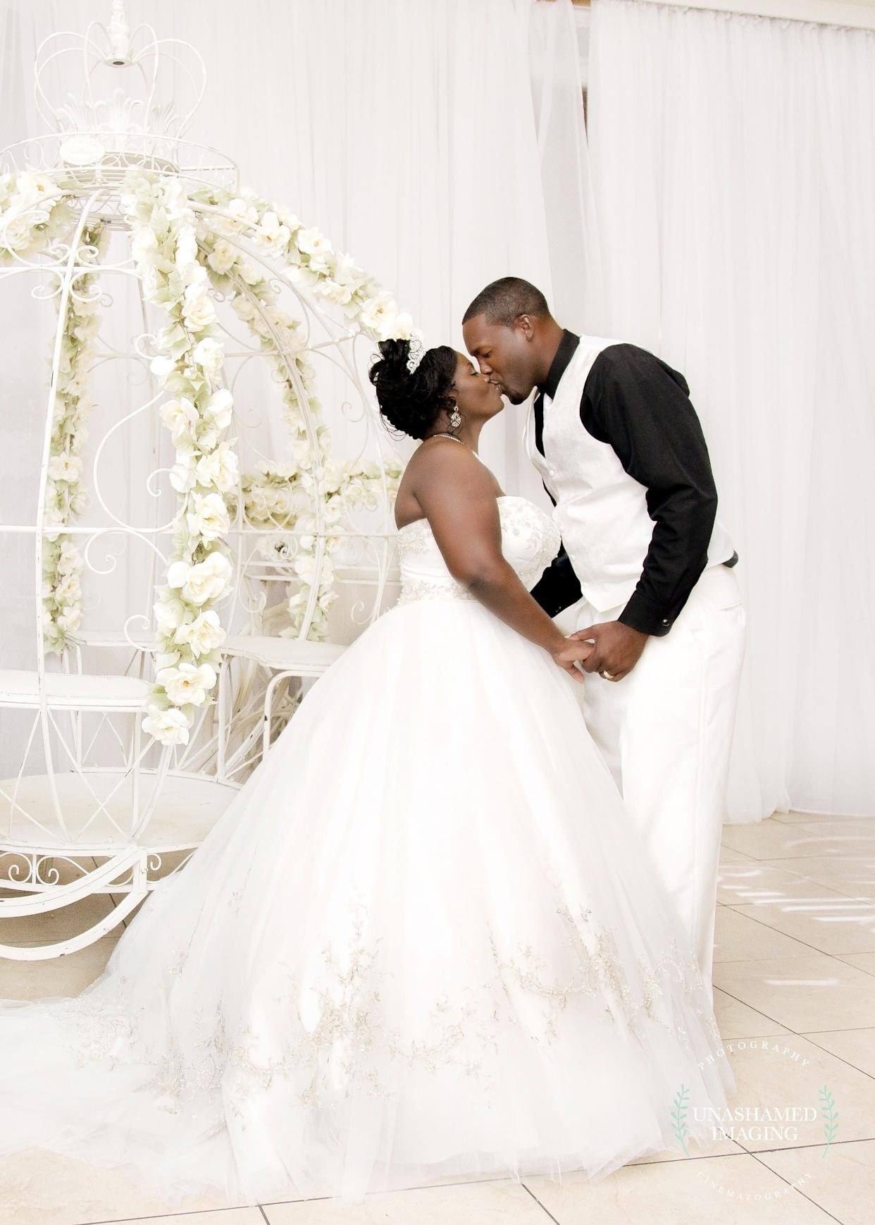 """""""Courtney and DeAndre tied the knot on July 29&nbsp;at Crystal Ballroom at Veranda in MetroWest, Florida."""" --&nbsp;<i>Anesha Collins&nbsp;</i>"""