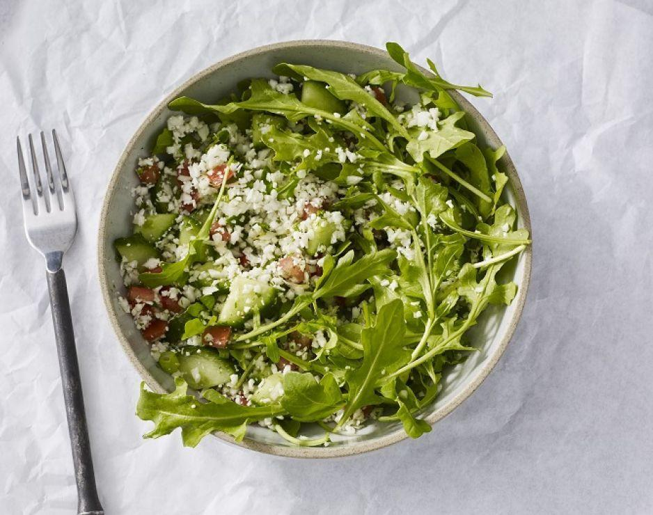 <p>This salad packs 15 grams of carbs, but if you eat it knowing you're going to spend some of your daily carb intake, Keatley says this salad is a good option given that the carbs are primarily from the veggies. </p><p><strong><em>Grilled chicken and cauliflower tabbouleh salad:</em></strong></p><p><em>Per serving: 390 cal, 27 g fat (5 g sat), 15 g carbs, 7 g sugar, 1140 mg sodium, 4 g fiber, 21 g protein</em></p>