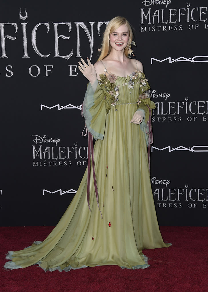 Elle Fanning Looked Like A Real Life Princess At Maleficent