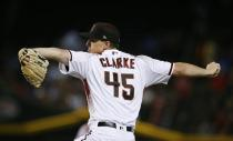 Arizona Diamondbacks starting pitcher Taylor Clarke throws against the Los Angeles Dodgers during the first inning of a baseball game Wednesday, June 26, 2019, in Phoenix. (AP Photo/Ross D. Franklin)