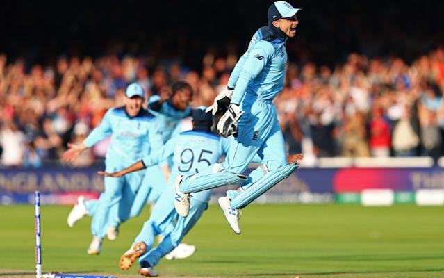Jos Buttler clinches the World Cup for England after the tie with New Zealand - Getty Images Europe