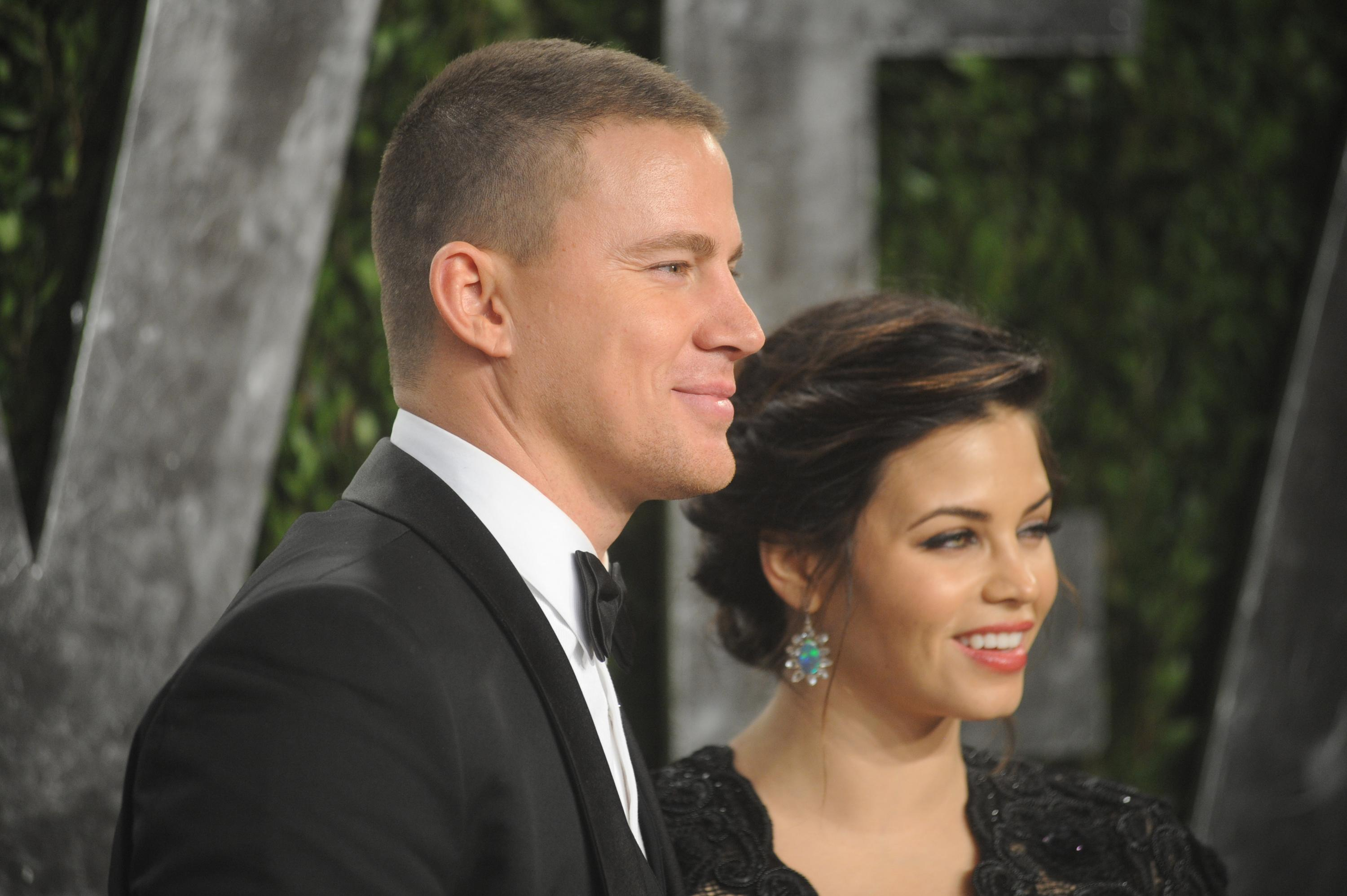 SMG_Channing Tatum_Jenna Dewan_NY1_LA_Vanity Fair_Final_Adds_022413_29.JPG WEST HOLLYWOOD, CA - FEBRUARY 24: Channing Tatum_Jenna Dewan arrives at the 2013 Vanity Fair Oscar Party at Sunset Tower on February 24, 2013 in West Hollywood, California People: Channing Tatum_Jenna Dewan Transmission Ref: NY1_LA Credit: Hoo-Me.com / MediaPunch/IPX