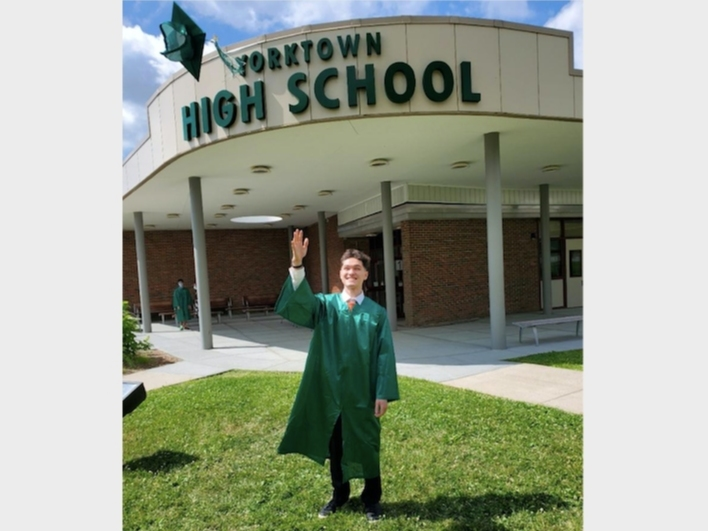 """John Skorcik of Yorktown High School was nominated for Patch's """"Celebrate Your Senior"""" series."""