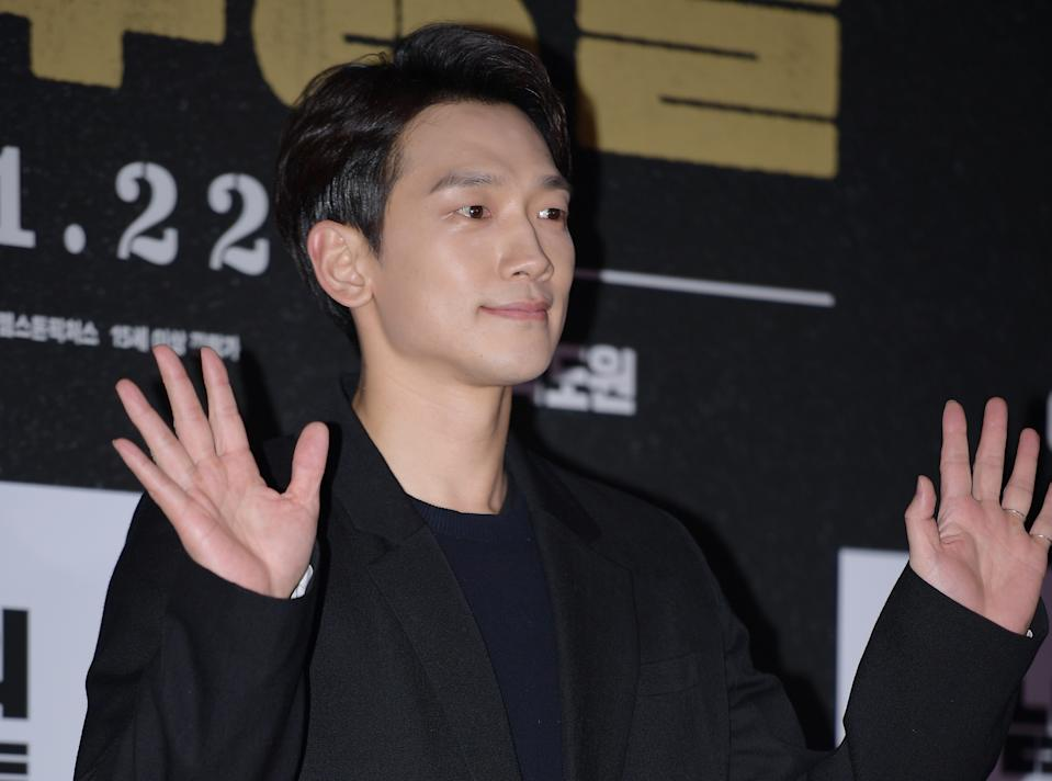 SEOUL, SOUTH KOREA - JANUARY 20: Jung Ji-Hoon (a.k.a Rain) attends VIP preview of the film 'The Man Standing Next' at Megabox COEX on January 20, 2020 in Seoul, South Korea. (Photo by The Chosunilbo JNS/Imazins via Getty Images)