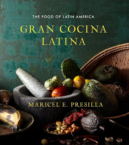 """This undated publicity photo provided by W.W. Norton shows the cover of Cuban-born chef Maricel E. Presilla's cookbook, """"Gran Cocina Latina."""" The James Beard Foundation honored winners in media and publishing in New York on Friday, May 3, 2013. The cookbook of the year honor went to Presilla's massive ode to the food of Latin America, """"Gran Cocina Latina."""" (AP Photo/W.W. Norton, File)"""