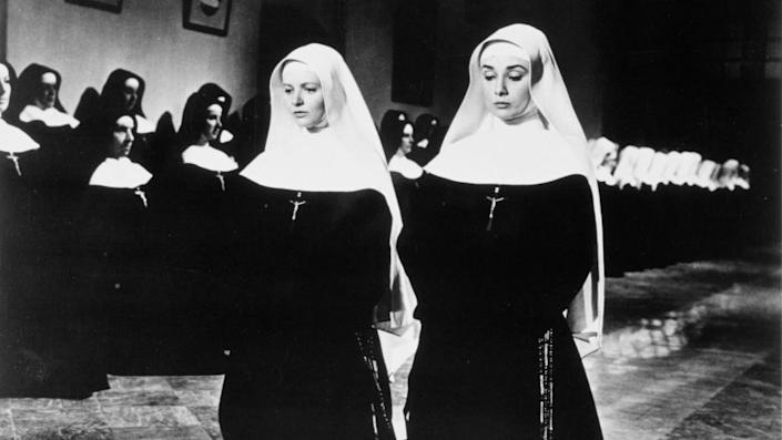 """Patricia Bosworth, left, with Audrey Hepburn in """"The Nun's Story."""""""