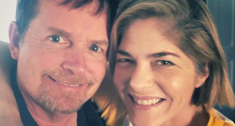 Michael J. Fox and Selma Blair. Image via Instagram.