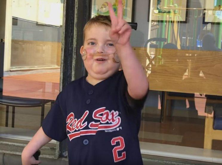 Ari Schultz is one of the toughest people, let alone kids, you'll ever meet. And he loves his Red Sox. (AriEchoofHope)