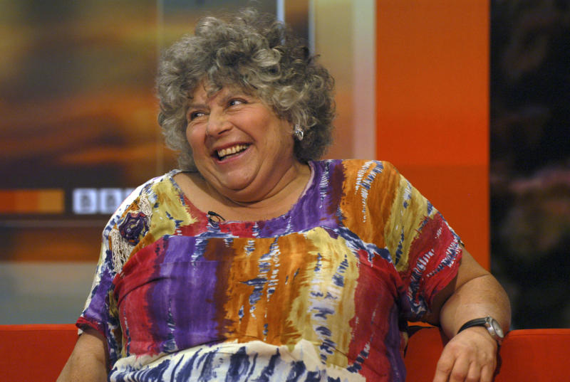 Actress Miriam Margolyes interviewed on the BBC Breakfast show Monday 24th July 2006 (Photo by Jeff Overs/BBC News & Current Affairs via Getty Images)