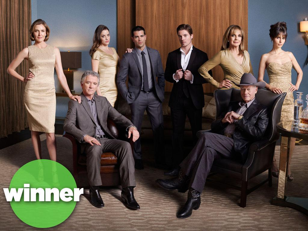 """<b>WINNER: """"Dallas"""" (TNT) </b><br><br>TNT certainly struck gold with its new-look update of the classic '80s primetime soap. """"Dallas"""" has been a ratings gusher so far, raking in 6.9 million viewers with last month's two-hour premiere. The appeal is easy to understand: Older fans love getting a chance to see what the Ewing family is up to these days, and the cast is stocked with pretty young people for the CW crowd. We just hope this doesn't give the producers of """"Falcon Crest"""" any ideas. (Although we hear Lorenzo Lamas is available.)"""