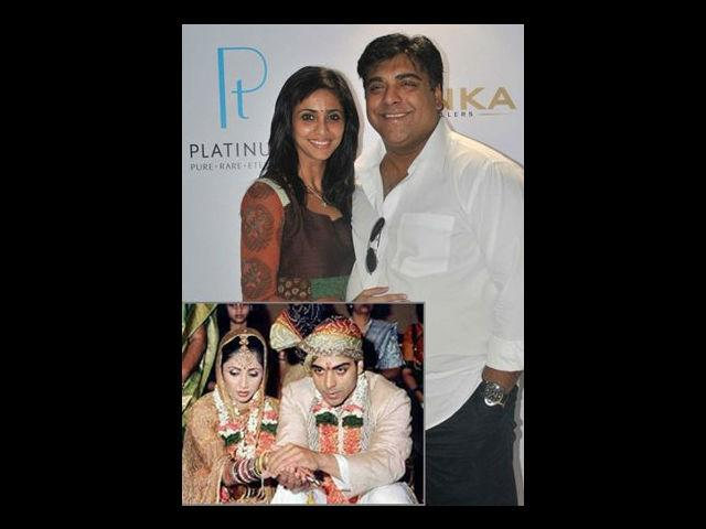 <b>1. Ram Kapoor-Gautami Gadgil</b><br />Long before Ram Kapoor began playing the role of a middle aged millionaire; this handsome guy stole the svelte Gautami Gadgil's heart. The couple met during the shoot of Ghar Ek Mandir. After dating for quite some time, they got married in 2003. The couple looks very much in love every time they make an appearance together. Despite the hot scenes that Ram has begun to indulge in with Sakshi Tanwar in Bade Ache Lagthe Hai, no dent seems to appear in this couple's relationship.