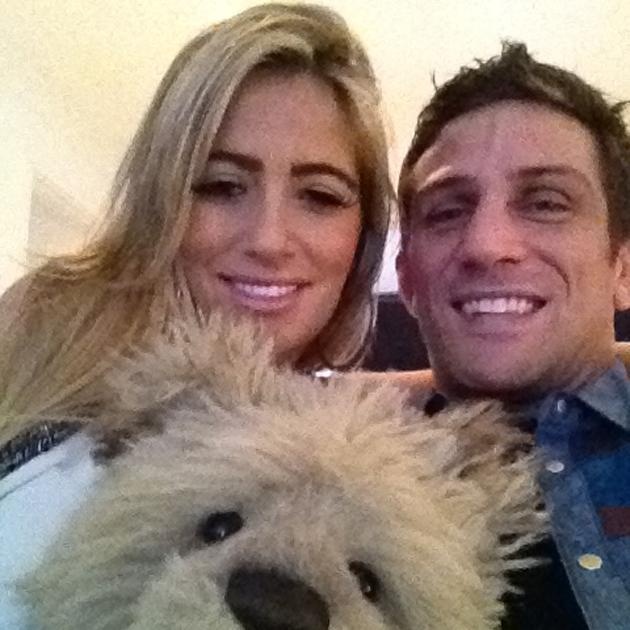 Celebrity couples: Chantelle Houghton and Alex Reid are so cute. This happy pic, complete with teddy would melt the most cynical of hearts.