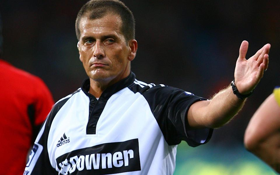 Marius Jonker refereeing a match - GETTY IMAGES ASIAPAC