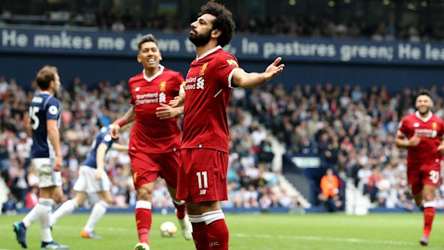 Liverpool star Mohamed Salah has moved level with Cristiano Ronaldo, Alan Shearer and Luis Suarez in the Premier League record books.