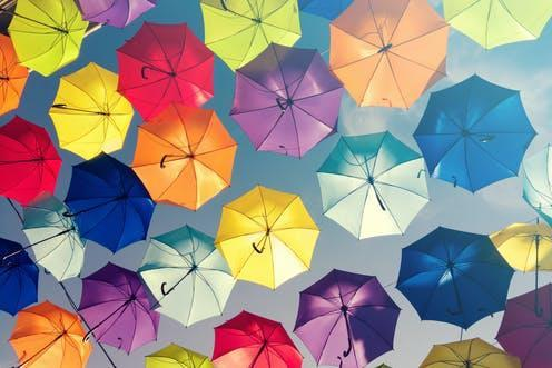 "<span class=""attribution""><a class=""link rapid-noclick-resp"" href=""https://www.shutterstock.com/image-photo/colorful-umbrellas-background-sky-street-decoration-397740379"" rel=""nofollow noopener"" target=""_blank"" data-ylk=""slk:Denijal photography/Shutterstock"">Denijal photography/Shutterstock</a></span>"