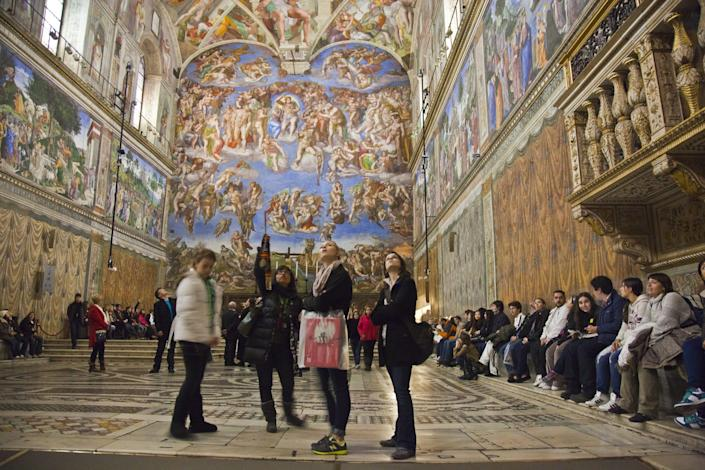 The Sistine Chapel, among other Vatican museums, will shut down until April 3.